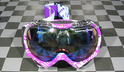 DICE TRUMP NEWSPAPER PURPLE PASTEL BLUE MIRROR DROP ANTI-FOG DOUBLE LENS GRAY BASE
