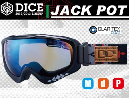 DICE JACKPOT BLACK RED PASTEL BLUE MIRROR DROP POLA ANTI-FOG DOUBLE LENS GRAY BASE