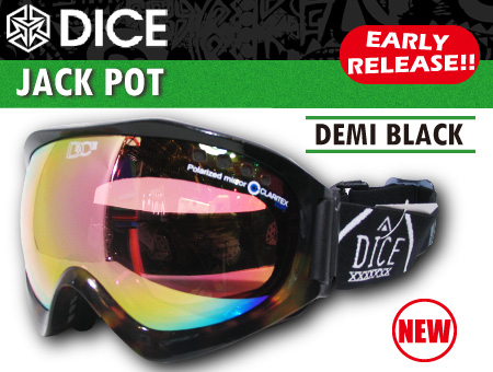 DICE JACKPOT DEMI BLACK POLARIZED PASTEL PINK MIRROR DROP ANTI-FOG DOUBLE LENS/PINK BASE