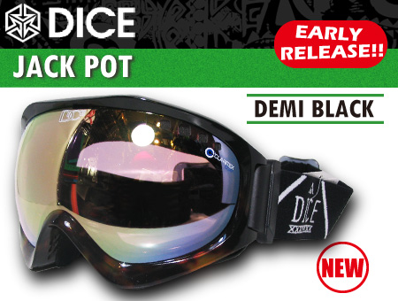 DICE JACKPOT DEMI BLACK PASTEL BROWN MIRROR DROP ANTI-FOG DOUBLE LENS/BRIGHT PINK BASE