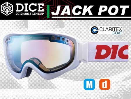 DICE JACKPOT WHITE PASTEL GREEN MIRROR DROP ANTI-FOG DOUBLE LENS CLEAR BASE