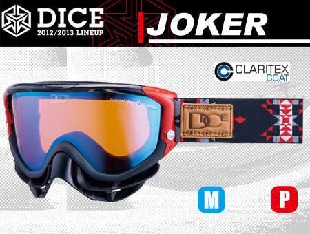 DICE JOKER BLACK MIX POLA PASTEL BLUE MIRROR