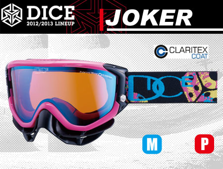 DICE JOKER PINK MIX POLA PASTEL BLUE MIRROR