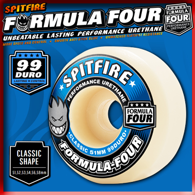 SPITFIRE WHEELS FORMULA FOUR CLASSIC 99DURO 52mm