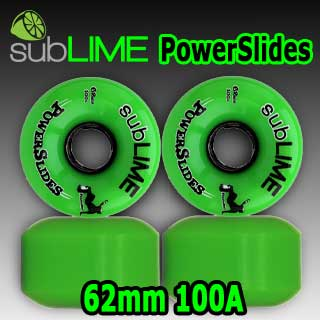 subLIME ウィール Power Slides 62mm 100a