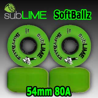 subLIME ウィール Soft Ballz 54mm 80a