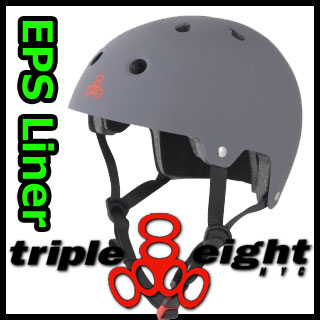 TRIPLE EIGHT ヘルメット DUAL CERTIFIED EPS LINER GUNMATTE