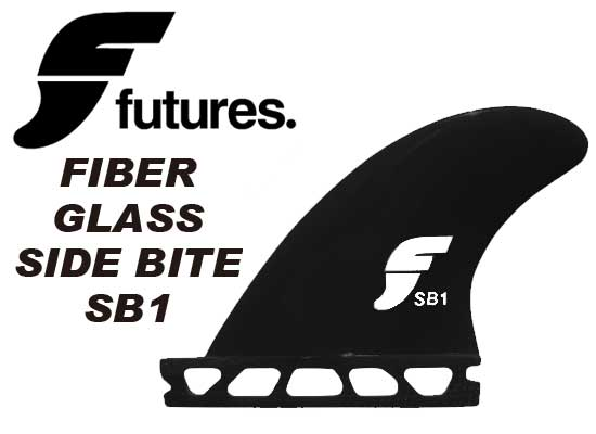 FUTURES FINS FIBER GLASS SIDE BITE SB1 BLACK