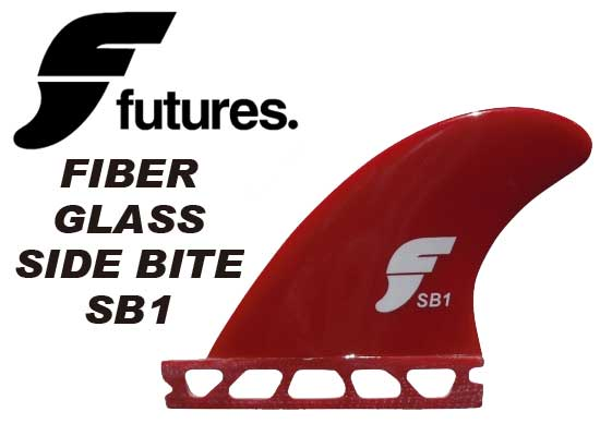 FUTURES FINS FIBER GLASS SIDE BITE SB1 RED