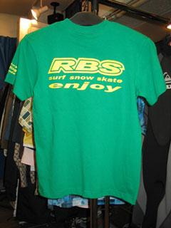 RBSオリジナルTシャツ グリーン バックプリント