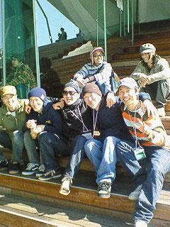右からシゲ、私、相内康夫、JT、アンディ