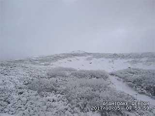 北海道 大雪山 降雪