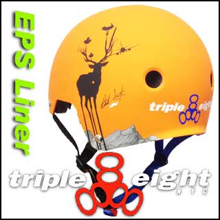 TRIPLE EIGHT PATRICK SWITZER PRO MODEL ヘルメット DUAL CERTIFIED EPS LINER