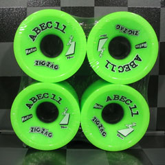 ABEC11 ウィール ZIGZAGS LIME 66mm 80a